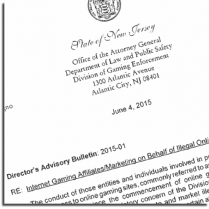 Advisory Bulletin for Online Gambling Affiliates in New Jersey